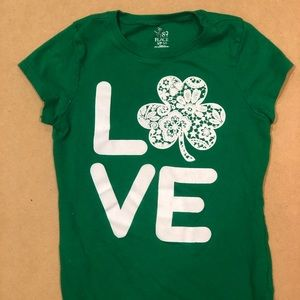 Girls St. Patricks day top - size 5/6
